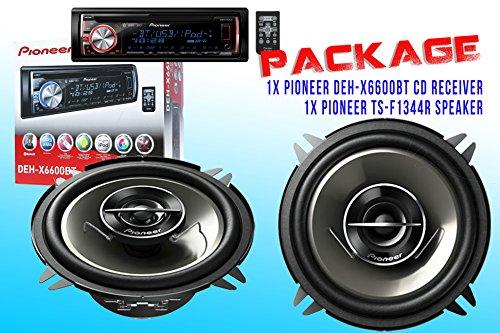 Package ! Pioneer Deh-X6600Bt Cd-Receiver + Pioneer Ts-G1344R Car Speakers