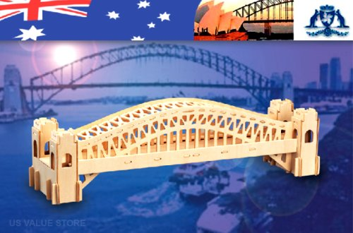 Puzzled Puzzle Sydney Bridge Natural Wood 3D Puzzle