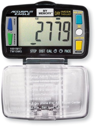 Cheap ACCUSPLIT Eagle AE1691M17 Steps, Distance and Calorie Pedometer (AE1691M17)