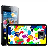 Fancy A Snuggle What A Mess Paint Splash Drop and Drips Design Hard Case Clip On Back Cover for Samsung Galaxy S2 i9100