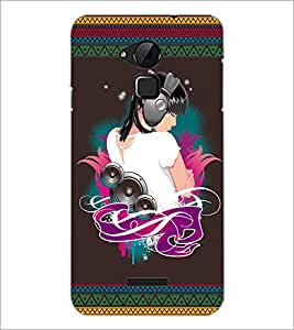 PrintDhaba Music Girl D-2523 Back Case Cover for COOLPAD NOTE 3 LITE (Multi-Coloured)