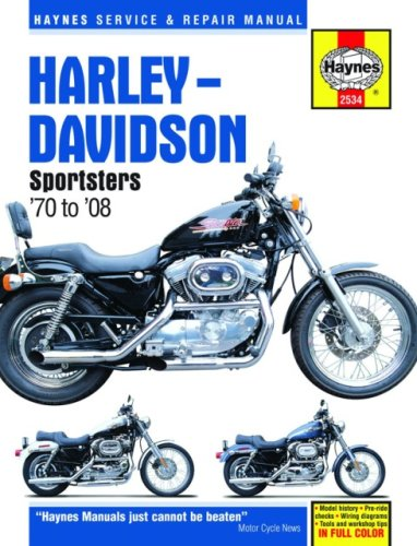 Harley-Davidson Sportsters '70 to '08 (Haynes Service & Repair Manual)