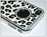 51r4v65jqDL. SL160  Luxury Unique Best Leopard Czech Rhinestone Case Cover for Apple Iphone 4 4g Crystal