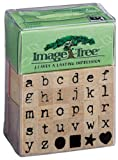EK Success Image Tree Wood Handle Rubber Stamp Set, Antique Typewriter Alphabet/Lower