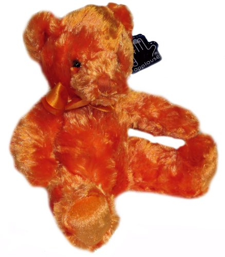 Applause Plush Bear By Russ Berrie Orange Floral
