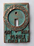 Lord of the Rings - Light Switch Cover - Aged Copper/Patina or Stone (Copper/Patina)