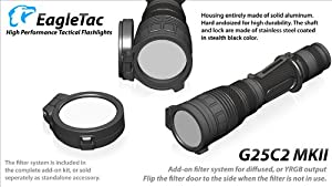 Eagletac G25C2 Flip-Over Filter Assembly with Diffuser and Color Lens