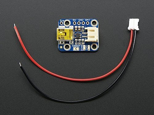 Adafruit Mini Lipo w/Mini-B USB Jack - USB LiIon/LiPoly charger - v1 (Mini Usb Jack compare prices)