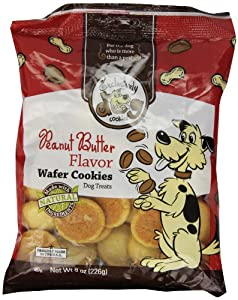 Exclusively Pet Wafer Cookies-Peanut Butter Flavor, 8-Ounce Package