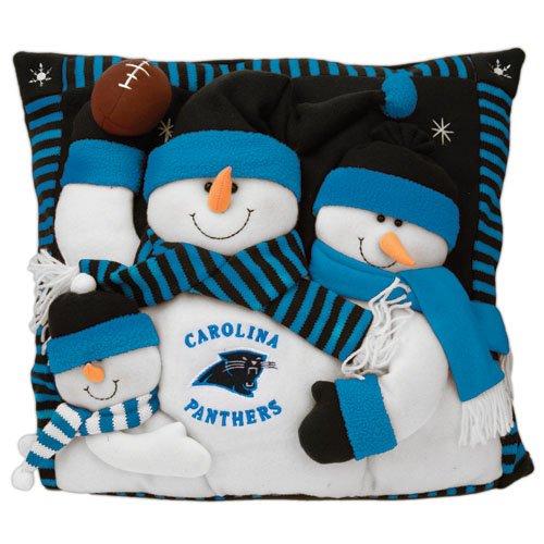 Carolina Panthers Snowman Family Pillow