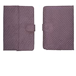 Brain Freezer G2 Silver Dotted Flip Flap Case Cover Pouch Stand For Micromax Funbook Talk P362 7