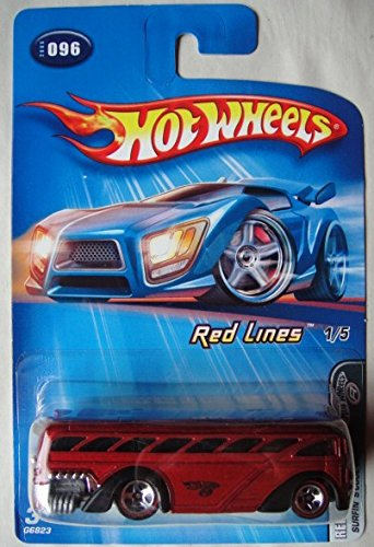 HOT WHEELS RED LINES RED SURFIN' S'COOL BUS #096 - 1