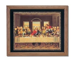 jesus the last supper black border religious. Black Bedroom Furniture Sets. Home Design Ideas