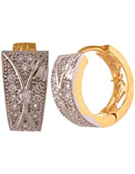 Sixmeter Jewels Silver Gold Plated Clip-On Earrings For Women (ER-39)