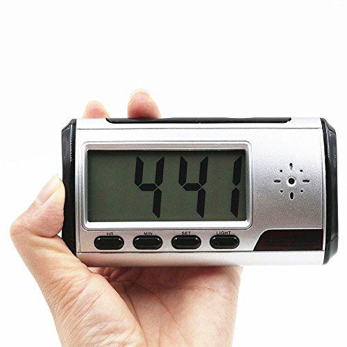 UYIKOO デジタル時計型防犯カメラ&ビデオ 長時間録画 動体検知機能 【8GBカード付き】