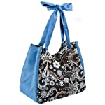 Savannah Insulated Lunch Bag (Blue/Brown/Black Floral) - Closeout