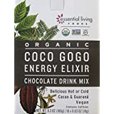 Essential Living Coco Gogo Energy Elixir Chocolate Drink Mix - Box of 10 Packets, 6.3oz