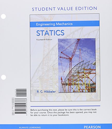 Engineering Mechanics: Statics, Student Value Edition Plus MasteringEngineering with Pearson eText — Access Card Package (14th Edition)