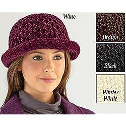 Roll Brim Chenille Hat