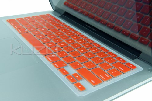 =>  Kuzy - ORANGE Keyboard Cover Silicone Skin for MacBook Pro 13