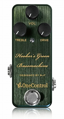One Control ワンコントロール エフェクター ベース用 オーバードライブ Hooker's Green Bass Machine