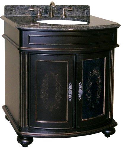 Kaco international 5300-3000-1025 Arlington 30-Inch Vanity in An Attractive Ebony Sherwin Williams Finish, Vanity Only