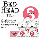 S-Factor Creamy Molding Wax *Set of 4* by TIGI Bed Head (50g each).