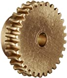 "Boston Gear G1027 Worm Gear, Plain, 14.5 PA Pressure Angle, 0.188"" Bore, 30:1 Ratio, 30 TEETH, RH"