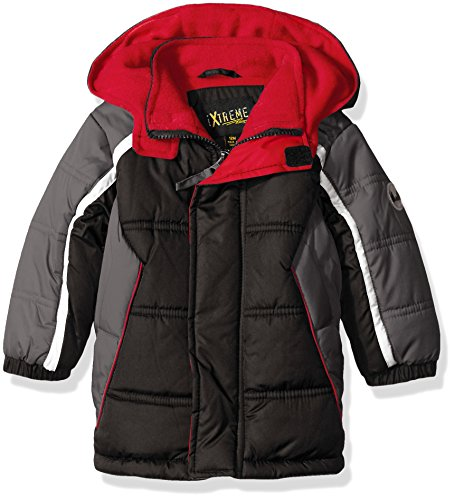 iXtreme Boys' Little Boys' Cut and Sew Colorblock Puffer, Black, 4 (Cut And Sew compare prices)