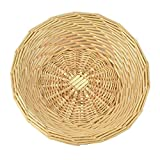 RURALITY Round Natural Wicker Fruits or Food Storage Basket,Small