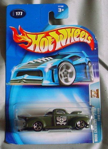 Hot Wheels 2003 Work Crewsers 1940 Ford 7/10 #177 GREEN 1:64 Scale - 1