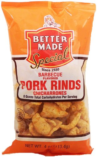Better Made barbecue flavored pork rinds, chicharrones, 4-oz. bag