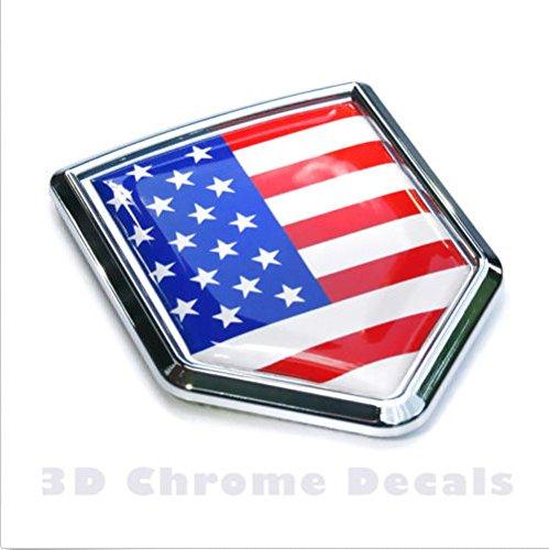 USA Flag Chrome Emblem Badge Decal Car Bumper Sticker American (Productos Car Wash compare prices)