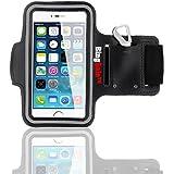 Bingsale Adjustable Reflective Sports Gym Jogging Armband for iPhone 6 Plus (iPhone 6 plus, Black)