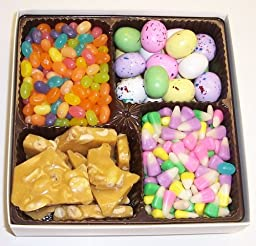 Scott\'s Cakes Large 4-Pack Bunny Corn, Sour Bunnies, Spring Mix Jelly Beans, & Peanut Brittle