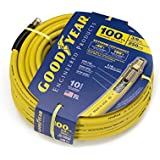 Goodyear EP 46506 3/8-Inch by 100-Feet 250 PSI Rubber Air Hose with 1/4-Inch MNPT Ends and Bend Restrictors