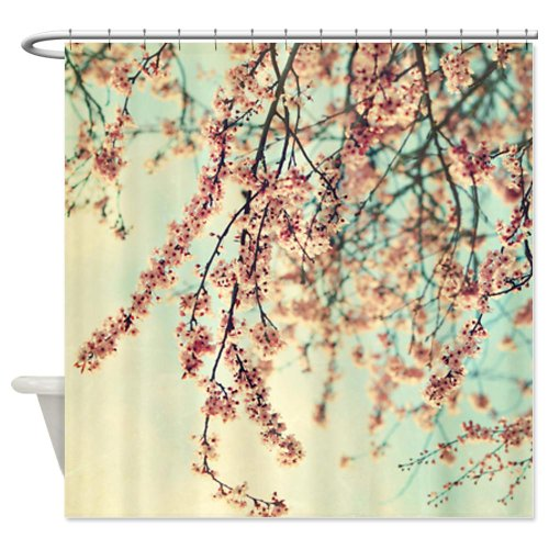 Shower Curtains cherry blossom shower curtains : Elegant Cherry Blossom Shower Curtain