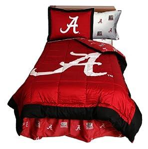 Alabama Reversible Comforter Set - - Alabama Crimson Tide by College Covers