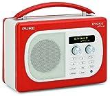 Pure Evoke Mio VL-61625 Portable Radio (DAB/DAB+/UKW Radio, 7 Watt RMS) Lava