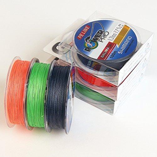 Geflochtene-Angelschnur-Schnur-100m-Lang-verschiedene-Farben-Geflochten-NR1