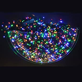 200 Multi Coloured Static LED Christmas Lights Outdoor