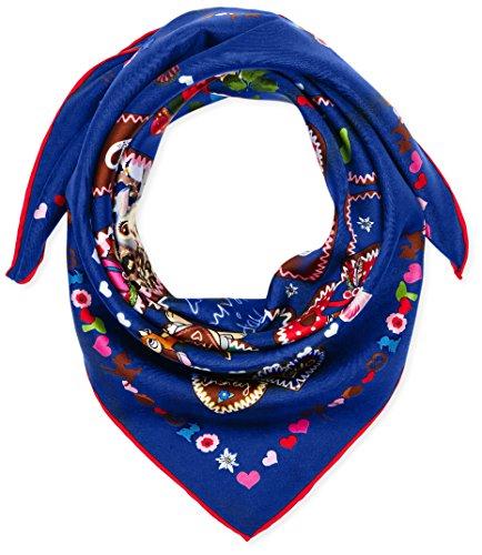 CODELLO 62072001, Foulard in Stile Tradizionale Donna, Blau (Navy Blue 2), Taglia Unica