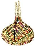Khatri Handicrafts Women's Clutch (Multi-Coloured)