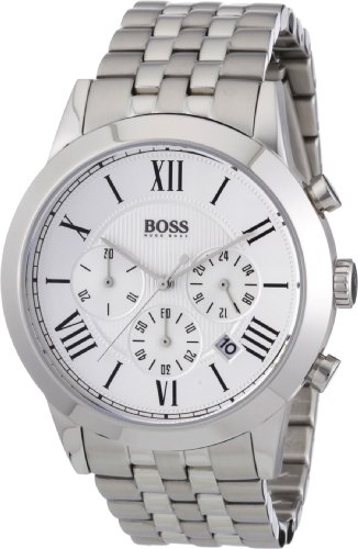 Hugo Boss 1512571 - Reloj analógico de caballero de cuarzo con correa de acero inoxidable plateada