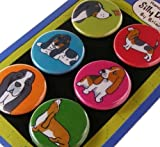 Basset Hound Silly Dog Magnet Set of 6