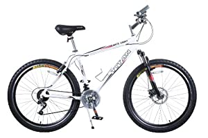 Titan White Knight 21-Speed All-Terrain Mountain Bike, White, 18-Inch Frame by Titan