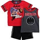 Batman Boys Red Top Shorts Set 4WB2759E (7)