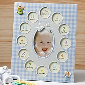 Amazon com baby s 1st year photo collage frame 13 pictures gift