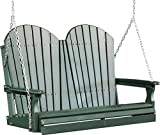 Outdoor Polywood 4 Foot Porch Swing - Adirondack Design *GREEN* Color
