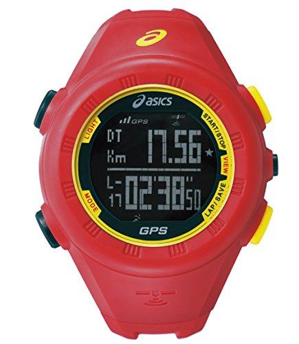 [アシックス ランニングウォッチ]ASICS RUNNING WATCH GPSランニングウォッチ レッド CQAG01.04